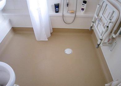 Altro safety flooring henry ashe flooring for Wet room vinyl flooring